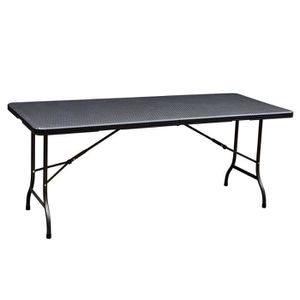 Table de jardin pliante noire