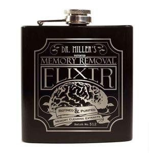 FLASQUE Flasque d'alcool - 6oz -Inox -Mat Brossé - Noir...