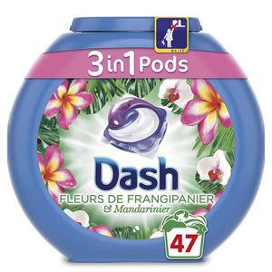 LESSIVE Dash 3 en 1 Pods Fleurs de Frangipanier Lessive Ca