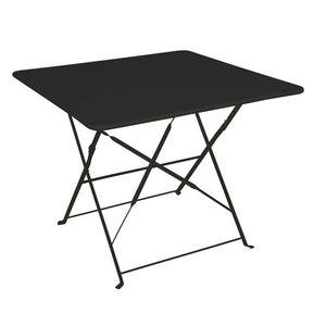 Table de jardin pliante Camarque - 90 x 90 cm Noir - Achat ...