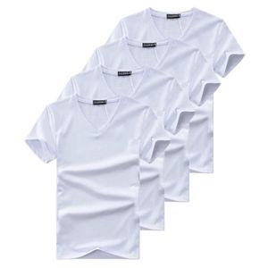 Charles Wilson Pack de 4 T-Shirts Unis /à Col Rond Essentiel