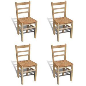 CHAISE 4 pcs Chaises de cuisine et de salle à manger Ense