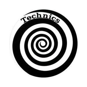 Slipmat Tapis antid/érapant en feutre pour platine vinyle LP DJ 30,5 cm Motif spirale 14