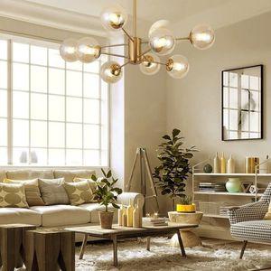 LUSTRE ET SUSPENSION Lampe Suspendue Luminaire Salon Moderne En Cuivre