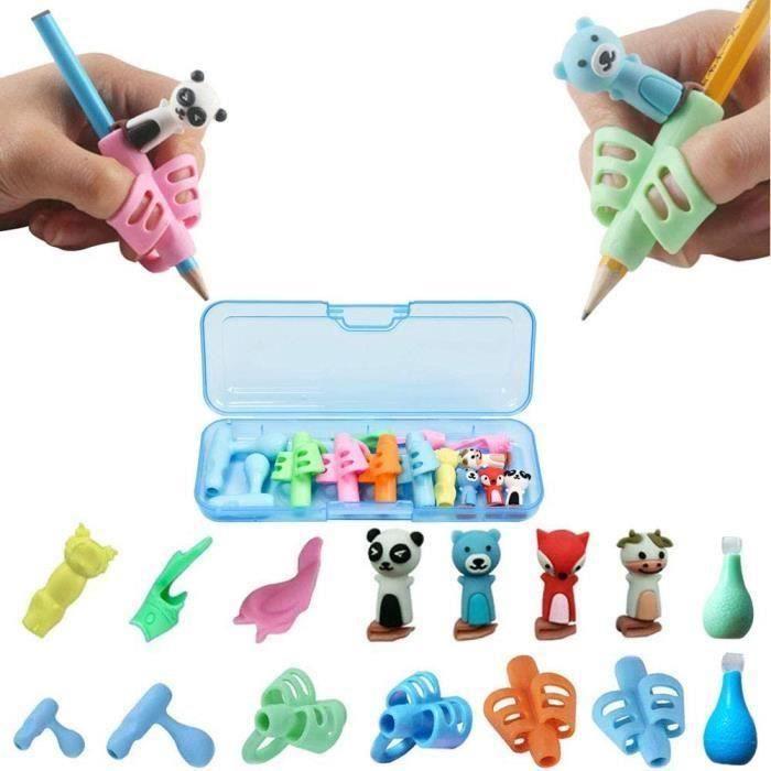 Pencil Grips,Guide Doigt Enfant, Aide écriture - Lot de 15 guide-doigts au design ergonomique Pencil Grips Pour Enfants Étudiants
