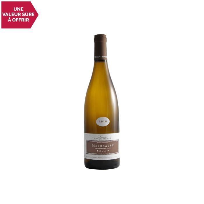 Meursault Les clous Blanc 2016 - 75cl - Domaine Vincent Prunier - Vin AOC Blanc de Bourgogne - Cépage Chardonnay