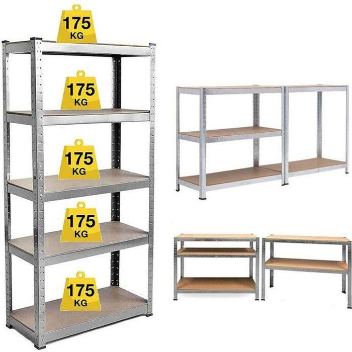 Viyiduo - Étagère de rangement pour Garage/Dépôt 180 * 90 * 40CM Haute qualité