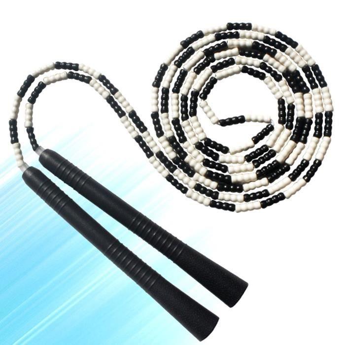 Corde à sauter souple perlée sans enchevêtrement longueur segmentée réglable corde à sauter fitness #2661