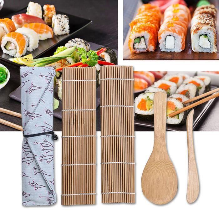 Kit de fabrication de sushi Sushi Mat Kit de sushi pour débutant Sushi Roll