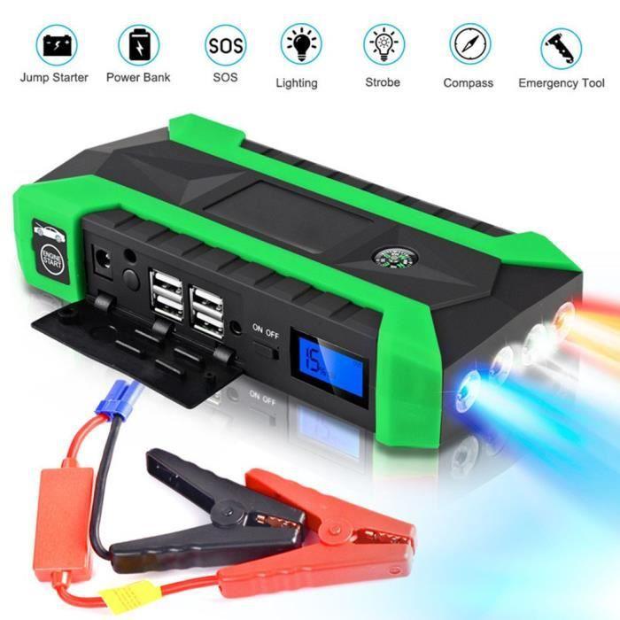 89800mAh 12V LCD 4 USB voiture Star Starter Pack Booster Chargeur Batterie Banque de Puissance