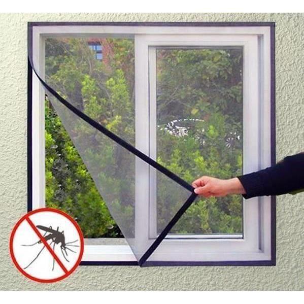 Écran Insecte 130x150CM maille antiparasitaires Protection Bug rideau fenêtre velcro