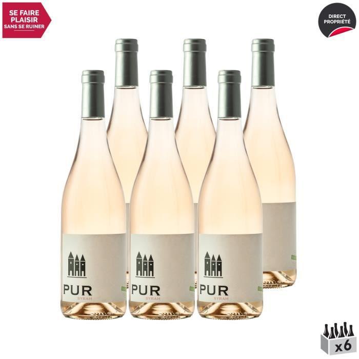 Coteaux d'Ensérune Pur Syrah sans sulfites Rosé 2020 - Lot de 6x75cl - Domaine La Provenquière - Vin IGP Rosé du Languedoc - Roussil