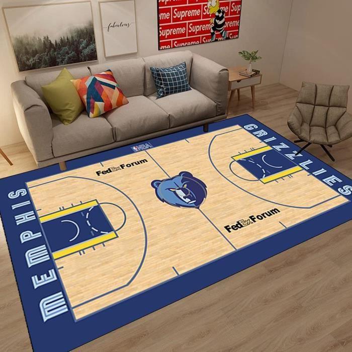 Tapis Tapis de Salon Tapis NBA USA Memphis Grizzlies Basketball Tapis de Sol antid&eacuterapant Tapis de Sol int&eacuterieur-426