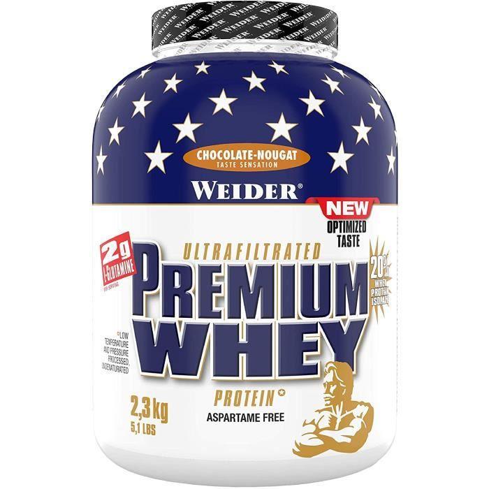 WEIDER Premium Whey Poudre de prot&eacuteine de lactos&eacuterum, faible teneur en glucides avec isolat de lactos&eacuterum, 5