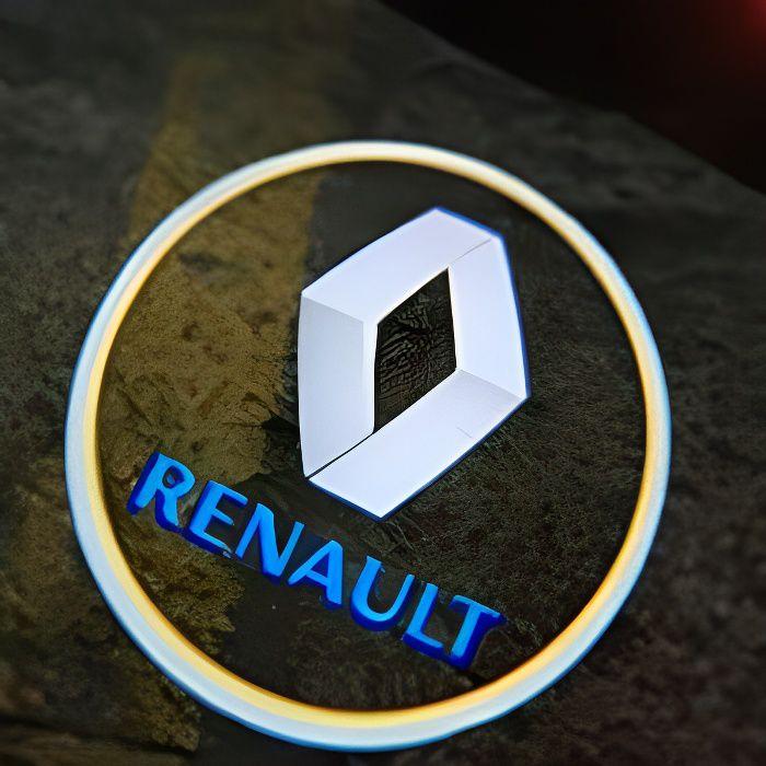 8000 K blanc bleu -Projecteur Laser pour porte de voiture, Logo, lampe pour Renault Latitude Talisman Laguna Magane LED + accessoire