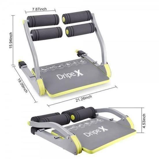 6 en 1 AB Appareil Abdominaux Trimmer L'appareil de Fitness Entraînement Trainer Maison Gym Equipement Machine
