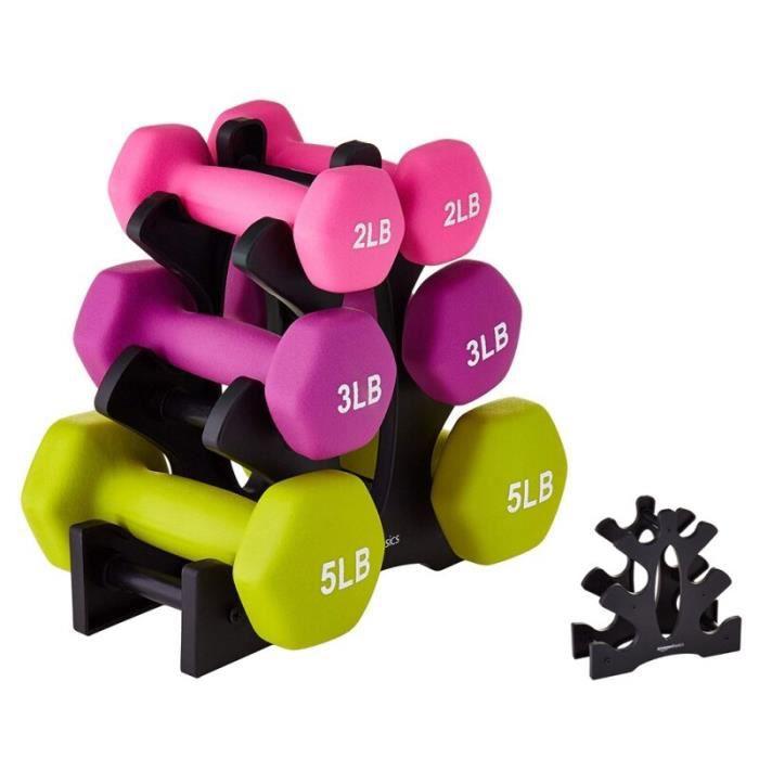 Support de musculation avec haltère, équipement d'exercice à domicile, outils de Sport en salle~Black JS4154
