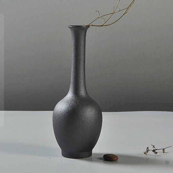 Vase de fleur Céramique Noir Bureau Maison Decor Noel Art TYPE 8 So12644