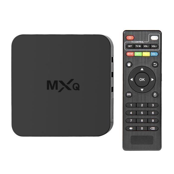 MXQ Smart TV Box - Téléviseur réseau IPTV Wi-Fi Quad-Core WiFi 1.2GHz Android Aw41012