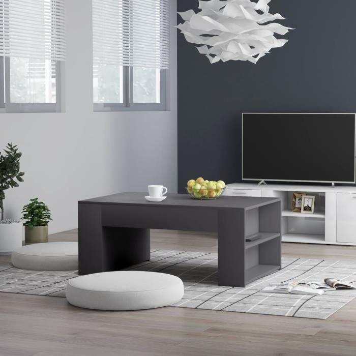 Table de Salon Table Basse - Style Contemporain scandinave - Table d'appoint - Gris 100x60x42 cm Aggloméré ♪♪6218