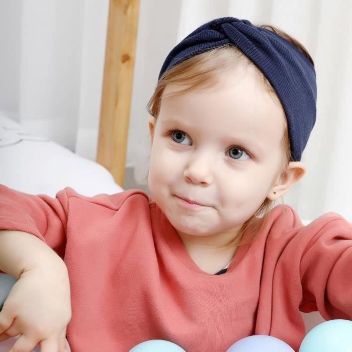 Enfants bébé tricot bandeau arc tête torsadée wrap garder au chaud large bande de cheveux LQB2200