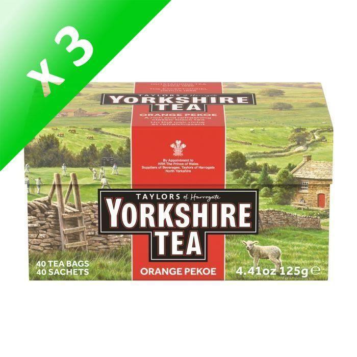 [LOT DE 3] TAYLORS Thé Yorkshire - 40 sachets - 125 g