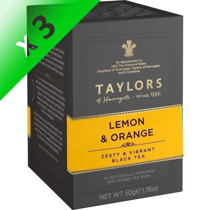[LOT DE 3] TAYLORS Thé au Citron et à l'Orange - 20 sachets - 50 g