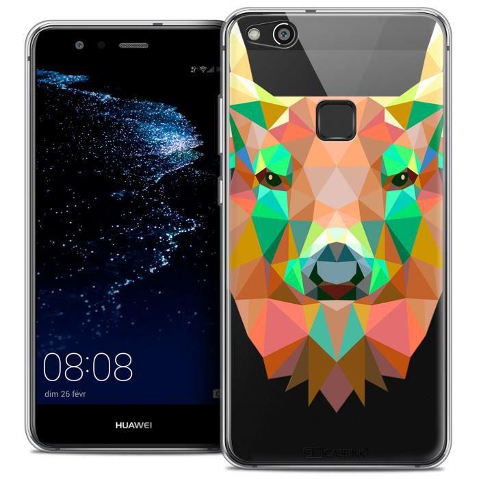 Coque Gel Huawei P10 LITE (5.2 ) Extra Fine Polygon Animals - Cerf