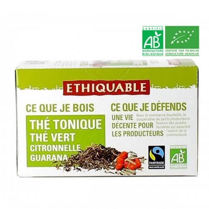 Thé tonique guarana bio - 36g