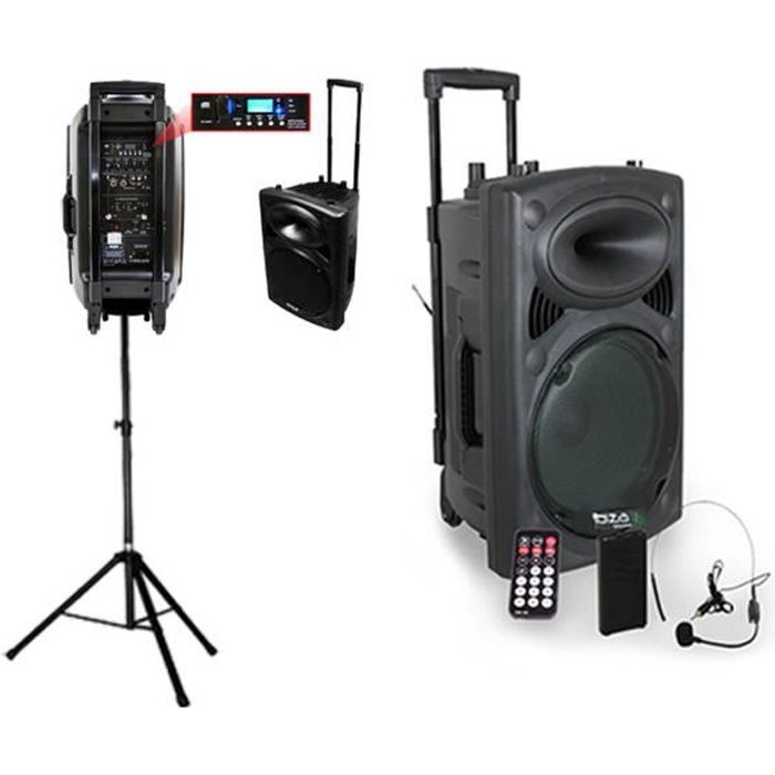 PORT15VHF-BT Système karaoké mobile 800W + PIED