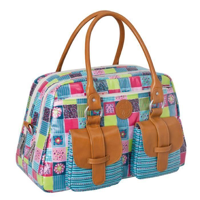Lassig sac à langer vintage metro bag Flower Qu...