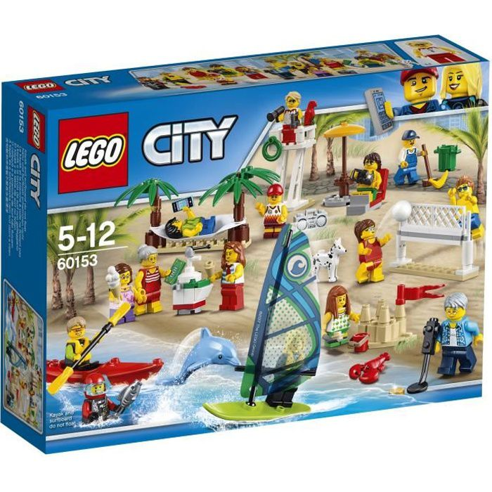 LEGO® City 60153 La plage Ensemble de Figurines