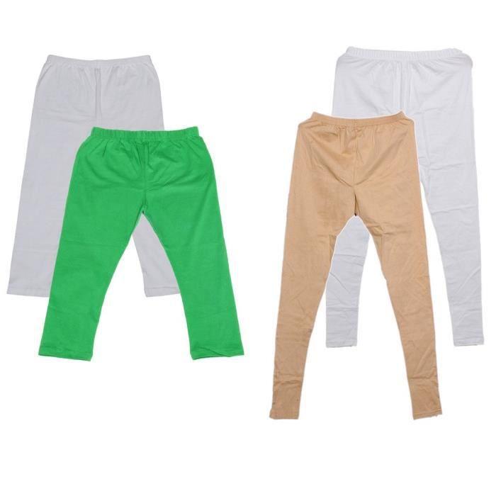 Women's Cotton2 Legging And 2 3-4 Legging-capri-pant (pack Of -4)_green::white::white::beige_free S KGQPF Taille-M