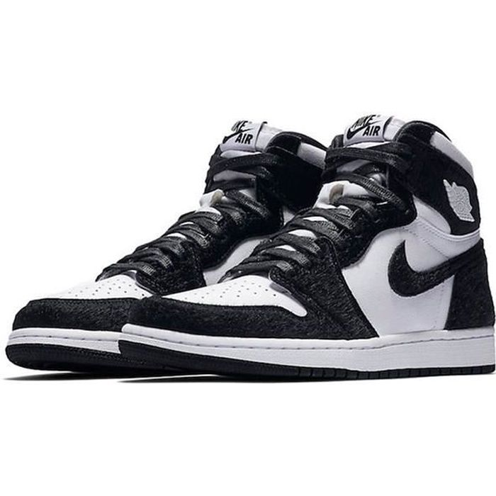 Airs Jordans 1 Retro High OG Panda CD0461-007 Chaussures de Running pour Homme Femme Noir Blanc