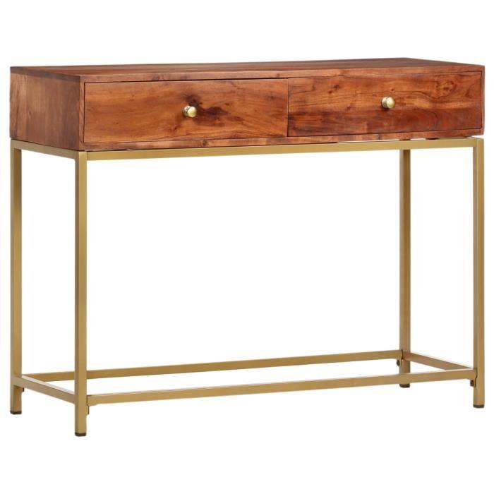 Table console extensible Table d'Appoint Table d'entrée contemporain 100x50x76 cm Bois d'acacia massif