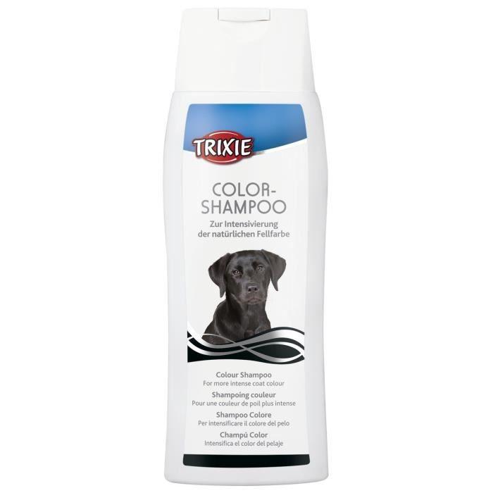 TRIXIE Shampoing couleur pour pelage noir 250 ml pour chien