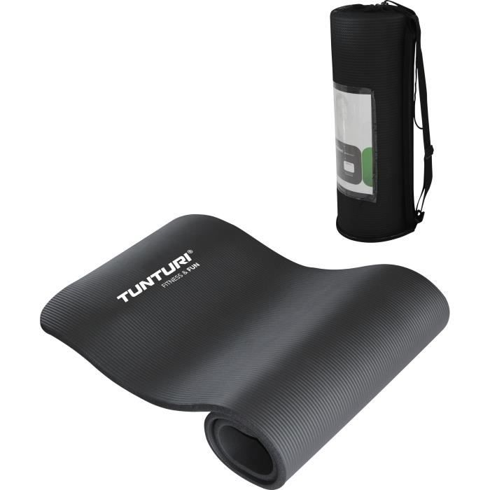 TUNTURI Matelas tapis fitness NBR noir