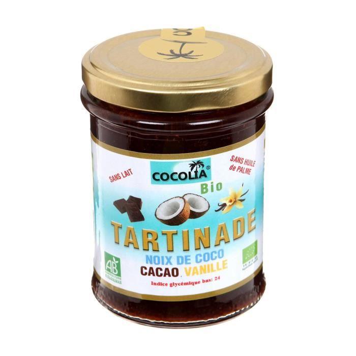 COCOLIA Tartinade de noix de coco, cacao & vanille bio - 215 g