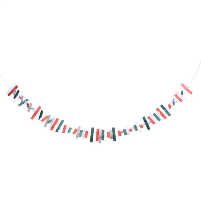 décoration fête 2 mtr longueurs Tissu Bunting rouge /& blanc mariage fête