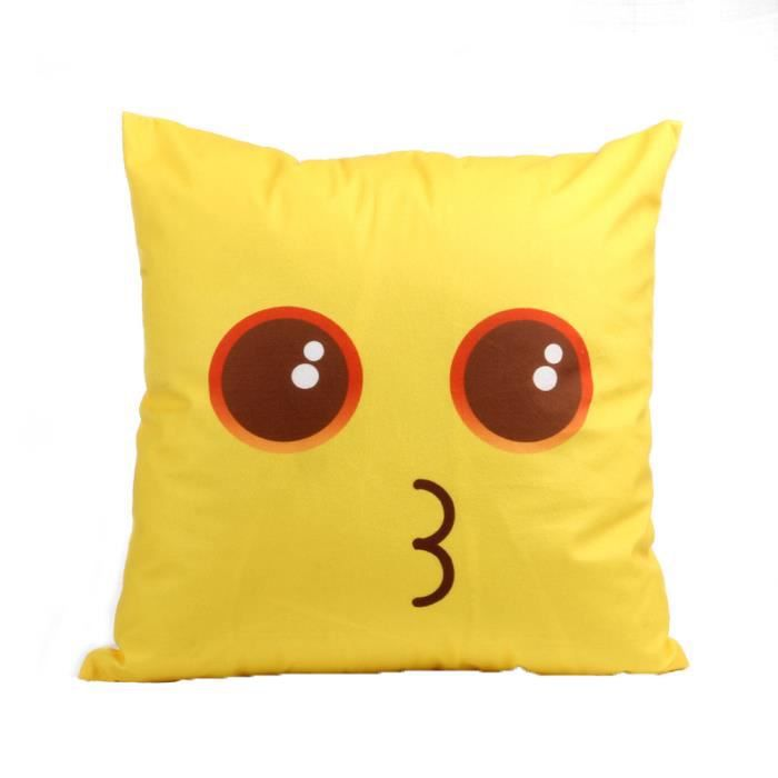 COUSSIN Coussin Emoji Case Sofa taille coussin Throw Cover