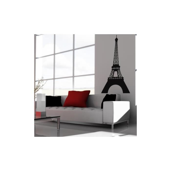stickers tour eiffel couleur rose clair taille 57x125 cm important la couleur du produit. Black Bedroom Furniture Sets. Home Design Ideas