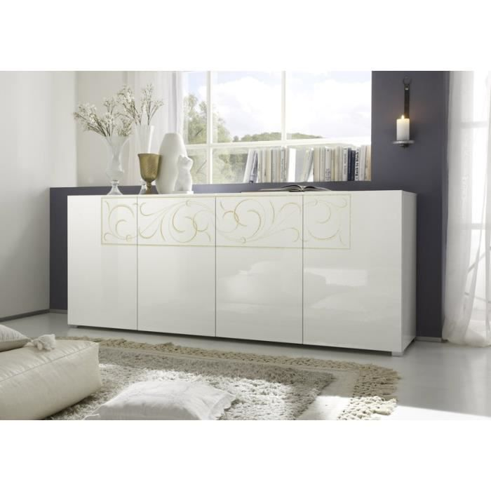 buffet blanc laqu paloma achat vente buffet bahut buffet blanc laqu paloma soldes. Black Bedroom Furniture Sets. Home Design Ideas