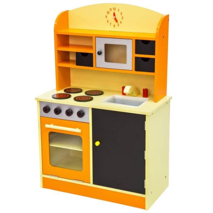 cuisine dinette cuisini re en bois pour enfant jeux jouet moderne jeu du r le d 39 imitation chef. Black Bedroom Furniture Sets. Home Design Ideas