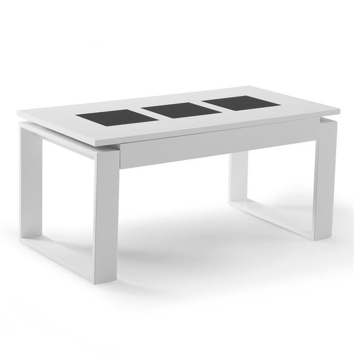 Table basse relevable cipriano blanc achat vente table basse table basse - C discount table basse ...