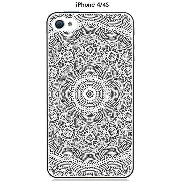 coque apple iphone 4 4s mandala rosace