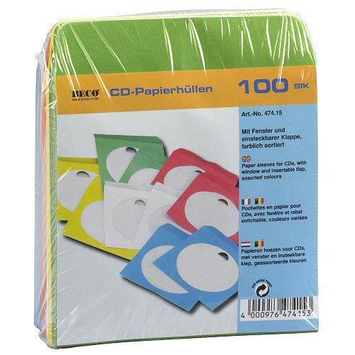 RANGEMENT CD-DVD 100 CD pochette papier avec fenêtre et tuck, co…