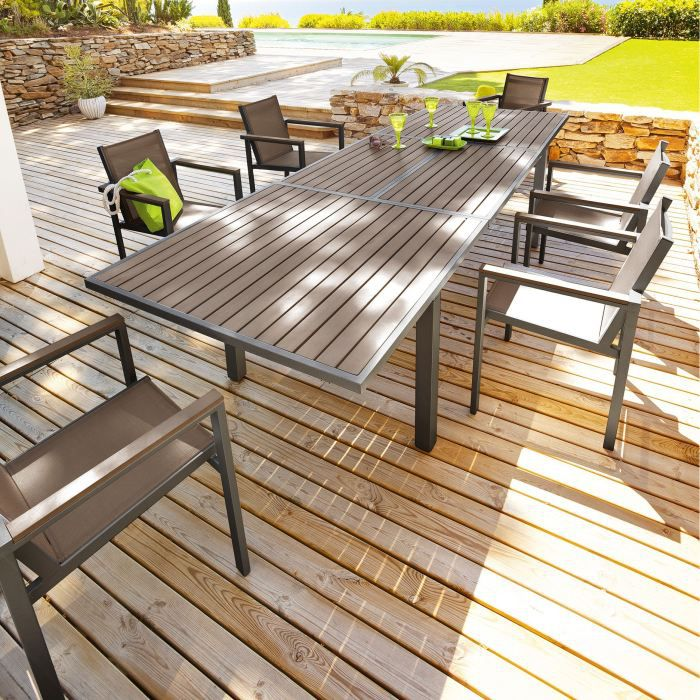 Table de jardin en aluminium leroy merlin for Leroy merlin table jardin