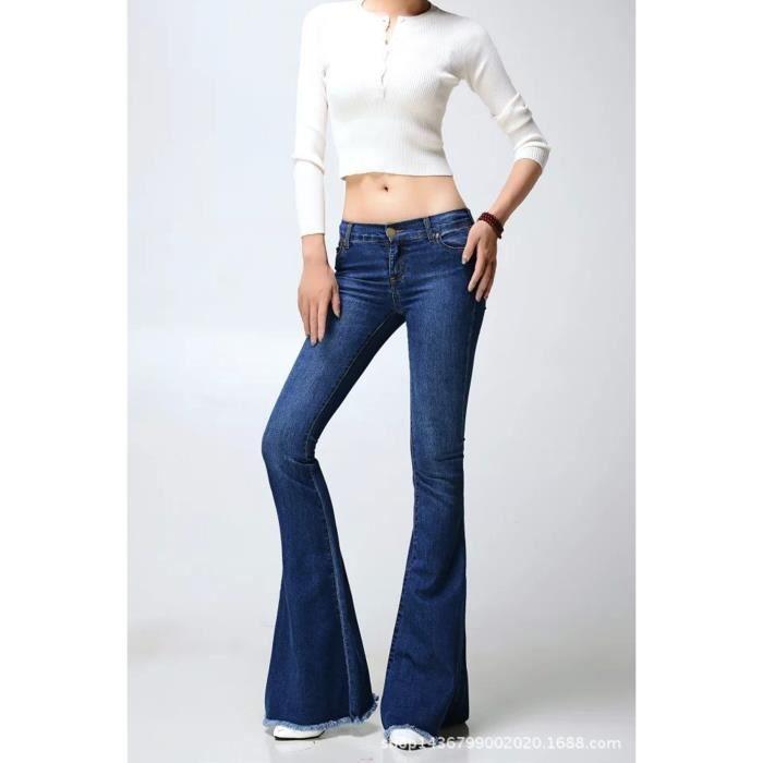 pantalon femme large en bas