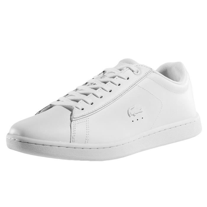 70151d2a4d9 Lacoste Homme Chaussures   Baskets Carnaby Evo 417 1 SPW Blanc Blanc ...
