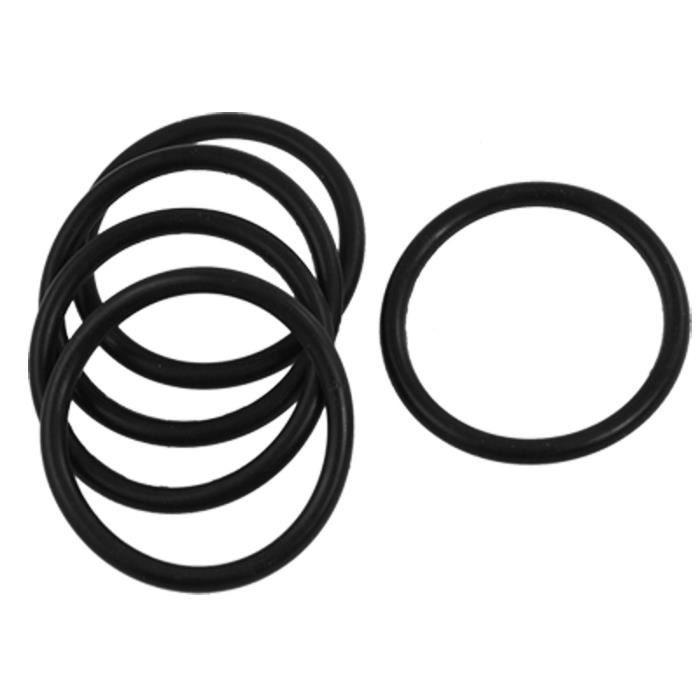sourcingmap/® 5pcs 60mm OD 54mm diam/ètre int/érieur 3 mm /épaisseur joint torique caoutchouc joints huile Noir